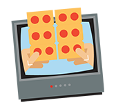 Pizza on TV
